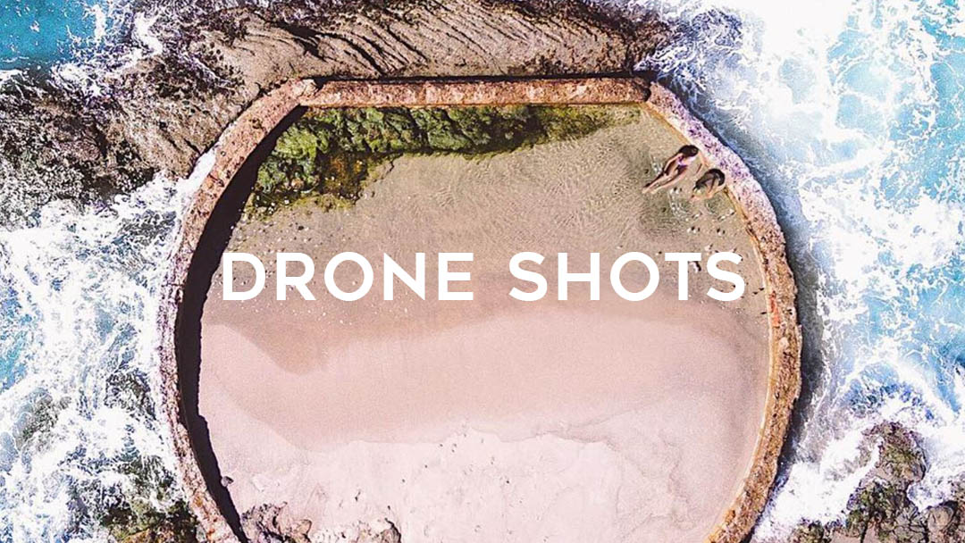 drone shot selfies