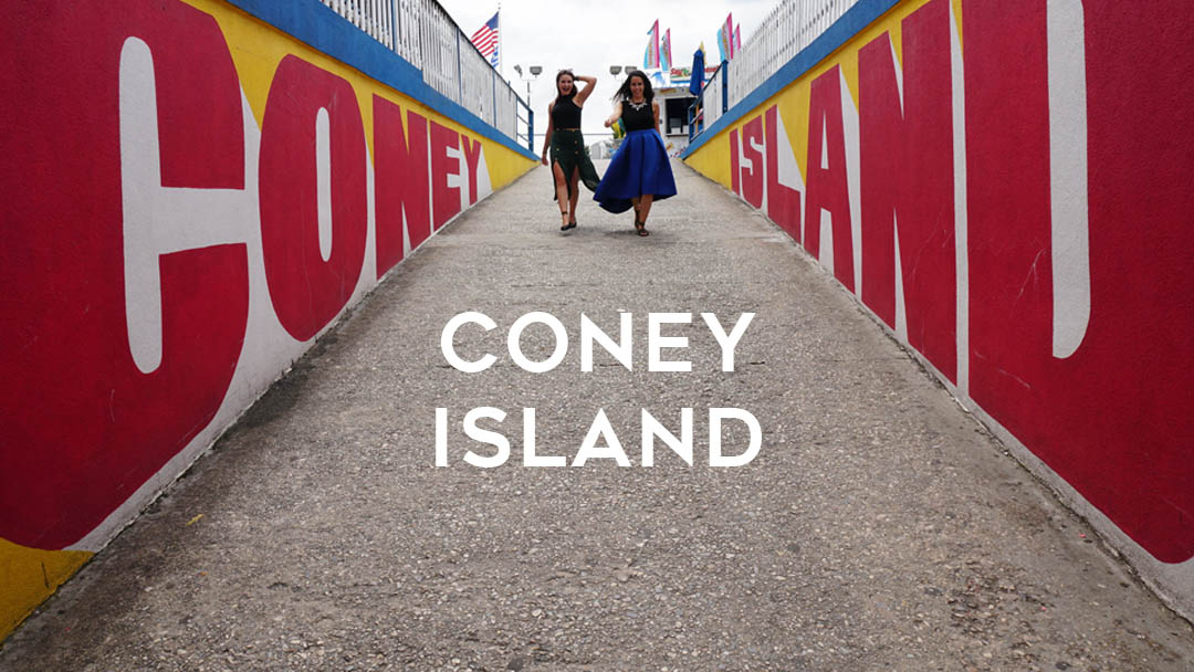 Visit Coney Island in New York.