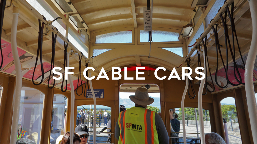 inside of a cable car with attendant