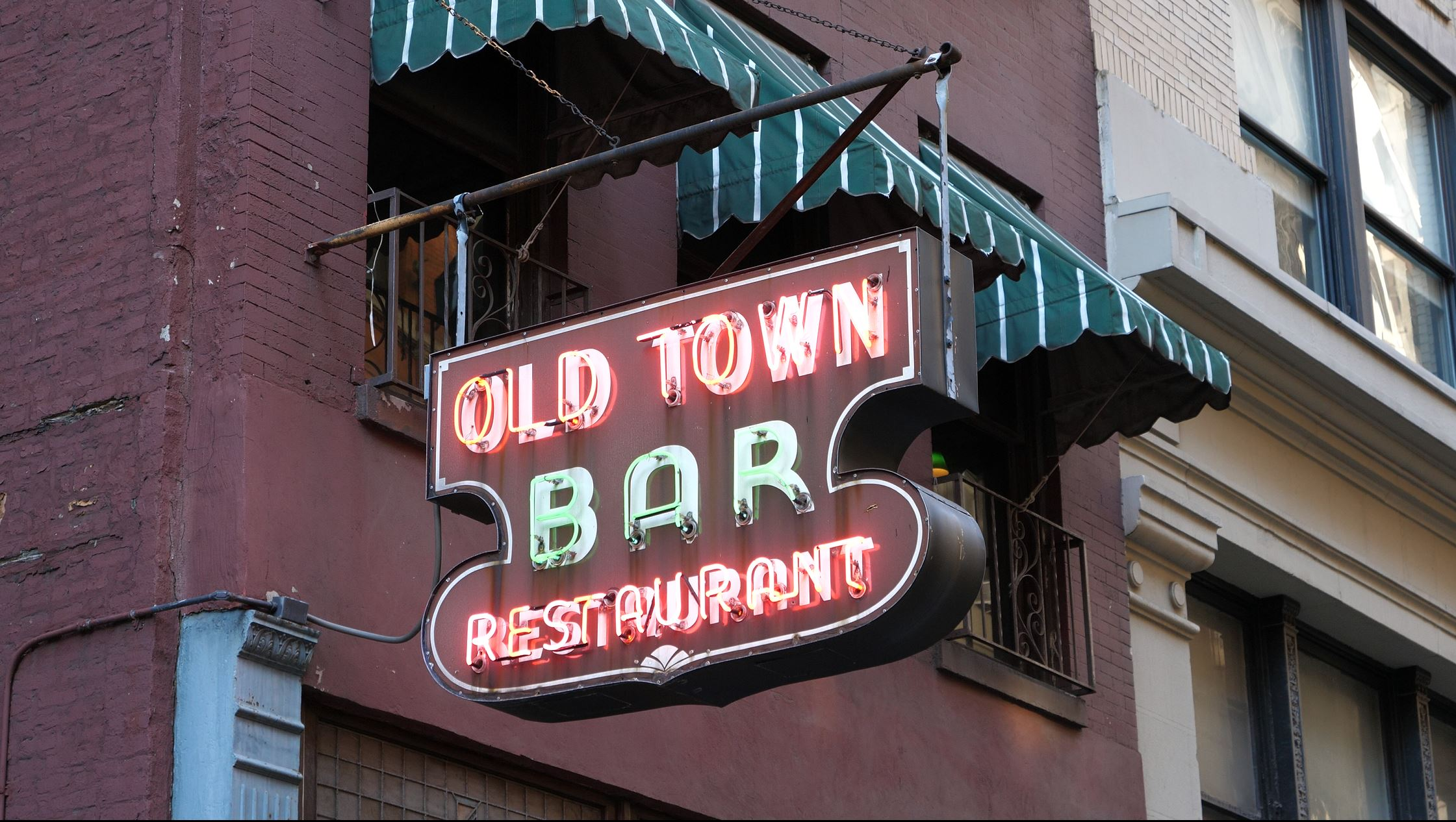 Old Town Bar Restaurant in the Flatiron District, NYC
