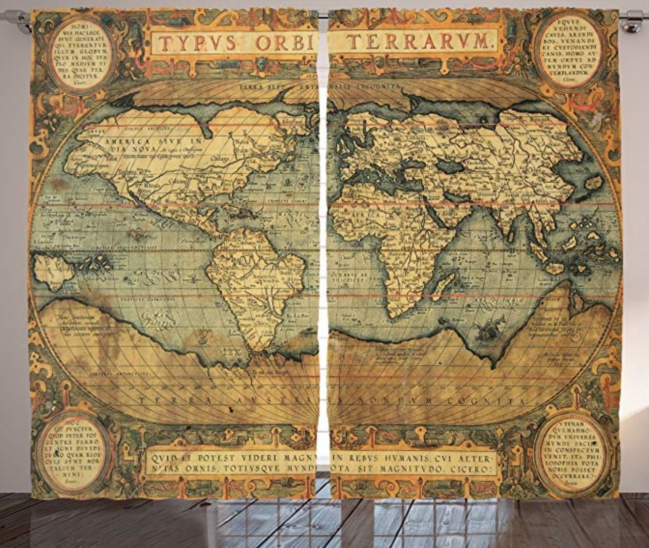 vintage map curtains How to Decorate a Travel Themed Bedroom ...
