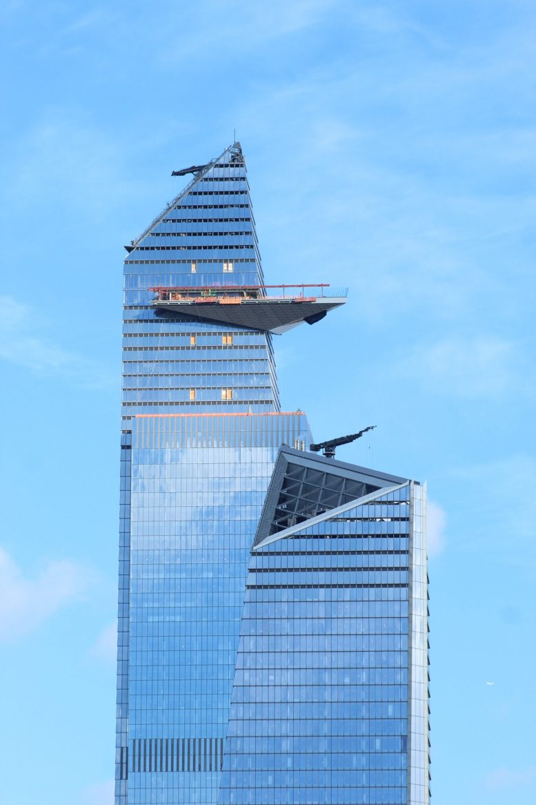 Side view of the Vessel Hudson Yards