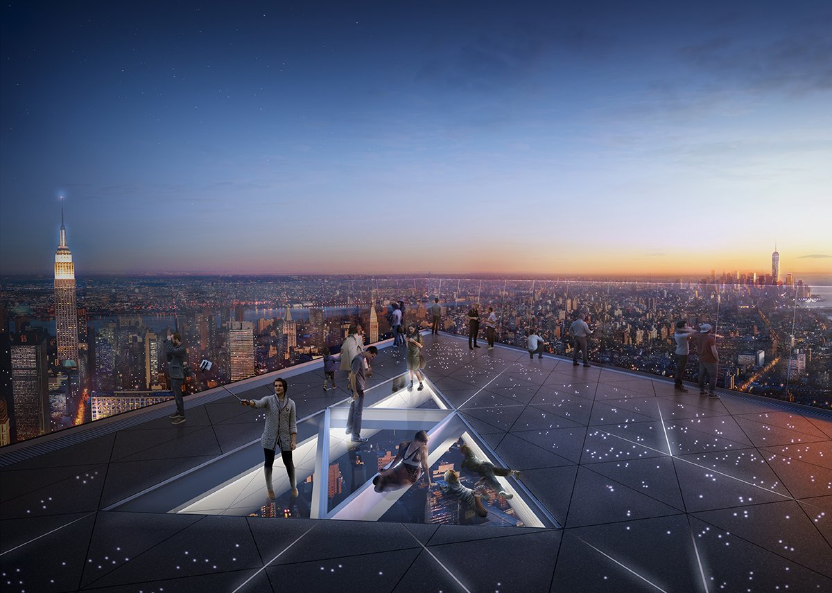 View from the top of the Vessel Hudson Yards