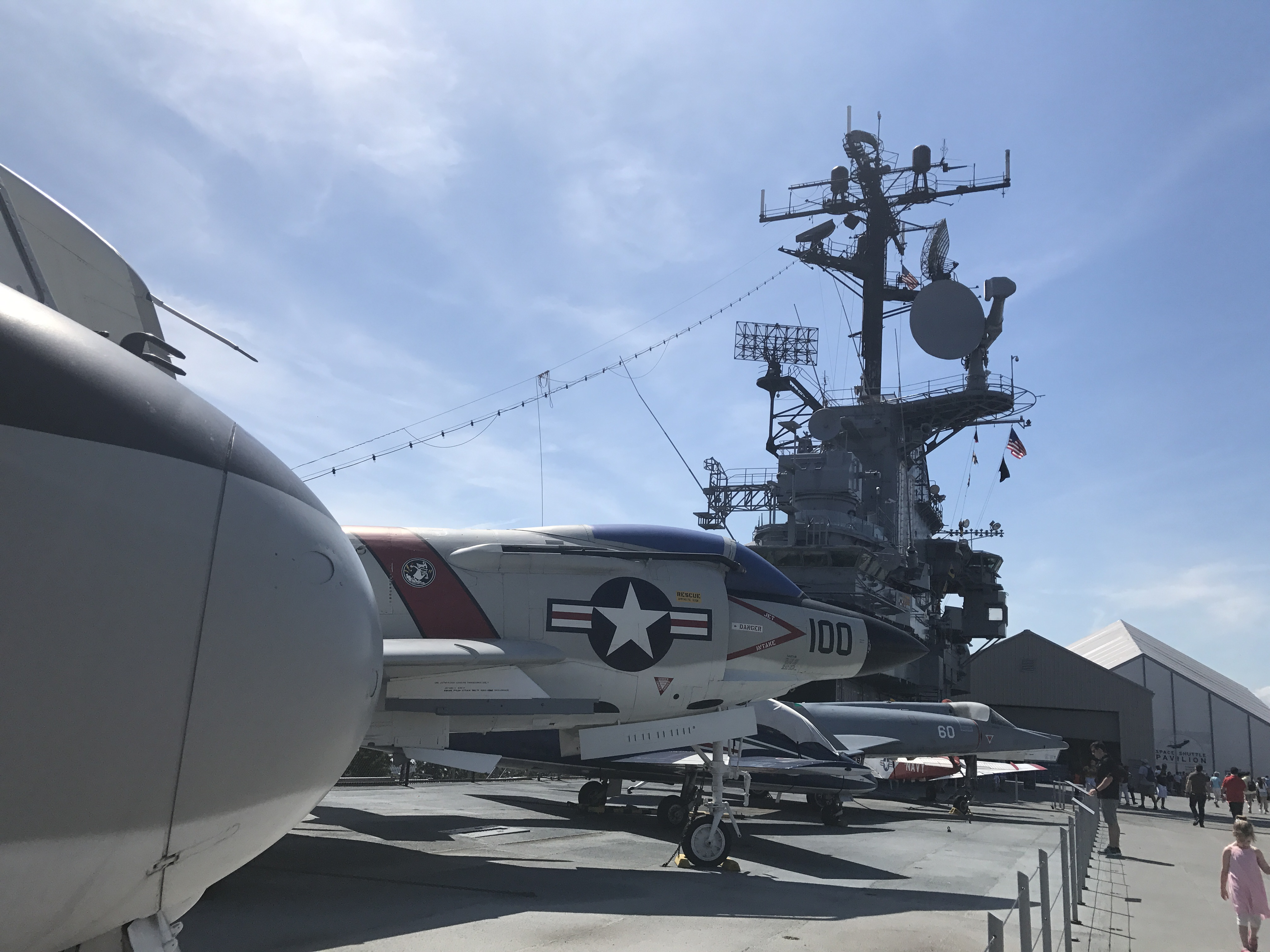 Intrepid space and air museum at Fleet Week in NYC in May 2019.
