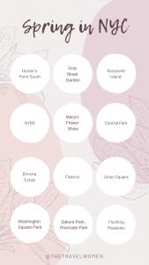 NYC Spring bucket list checklist