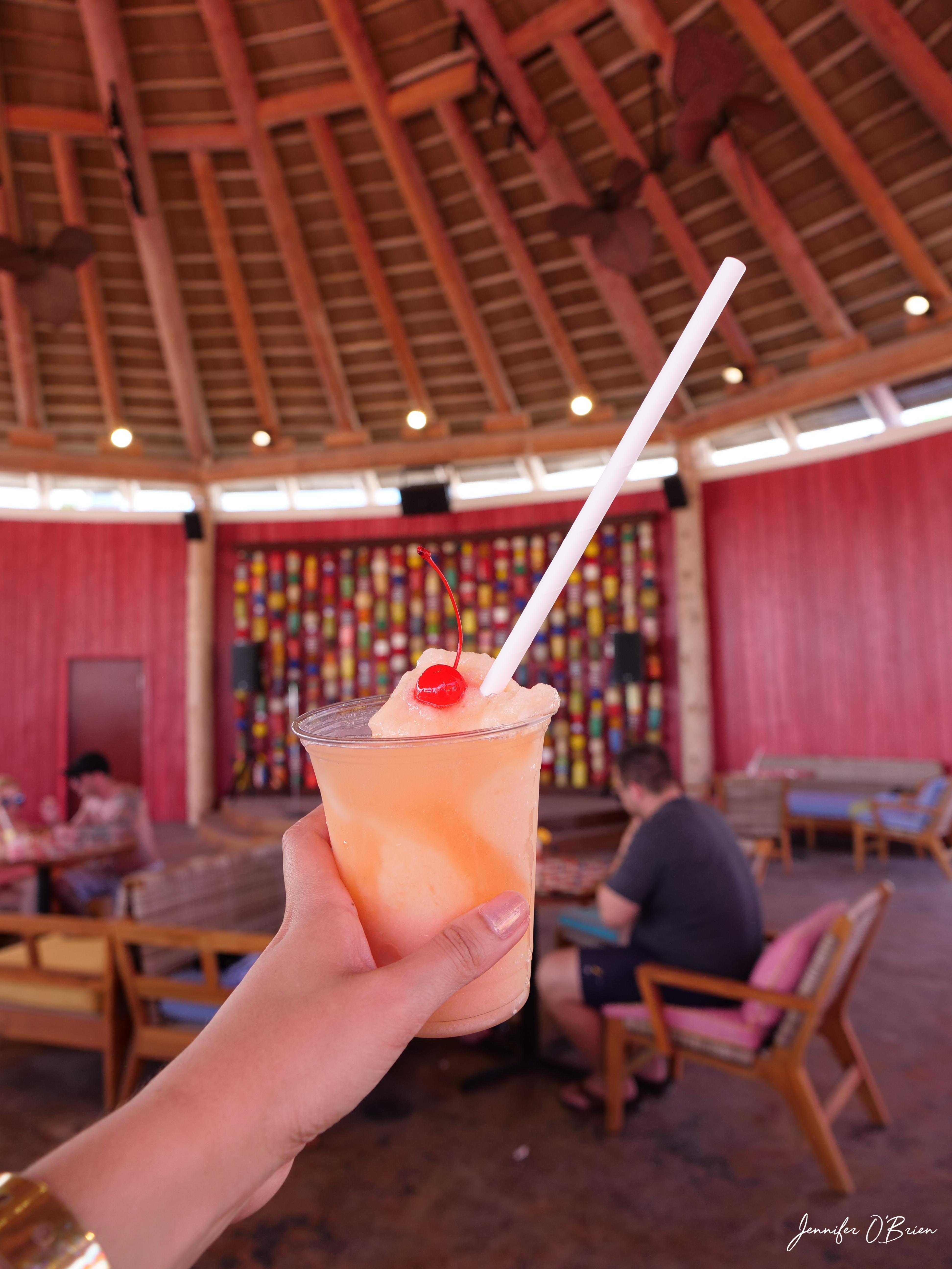 Jacks frozen drink Cococay Royal Caribbean Island Bahamas