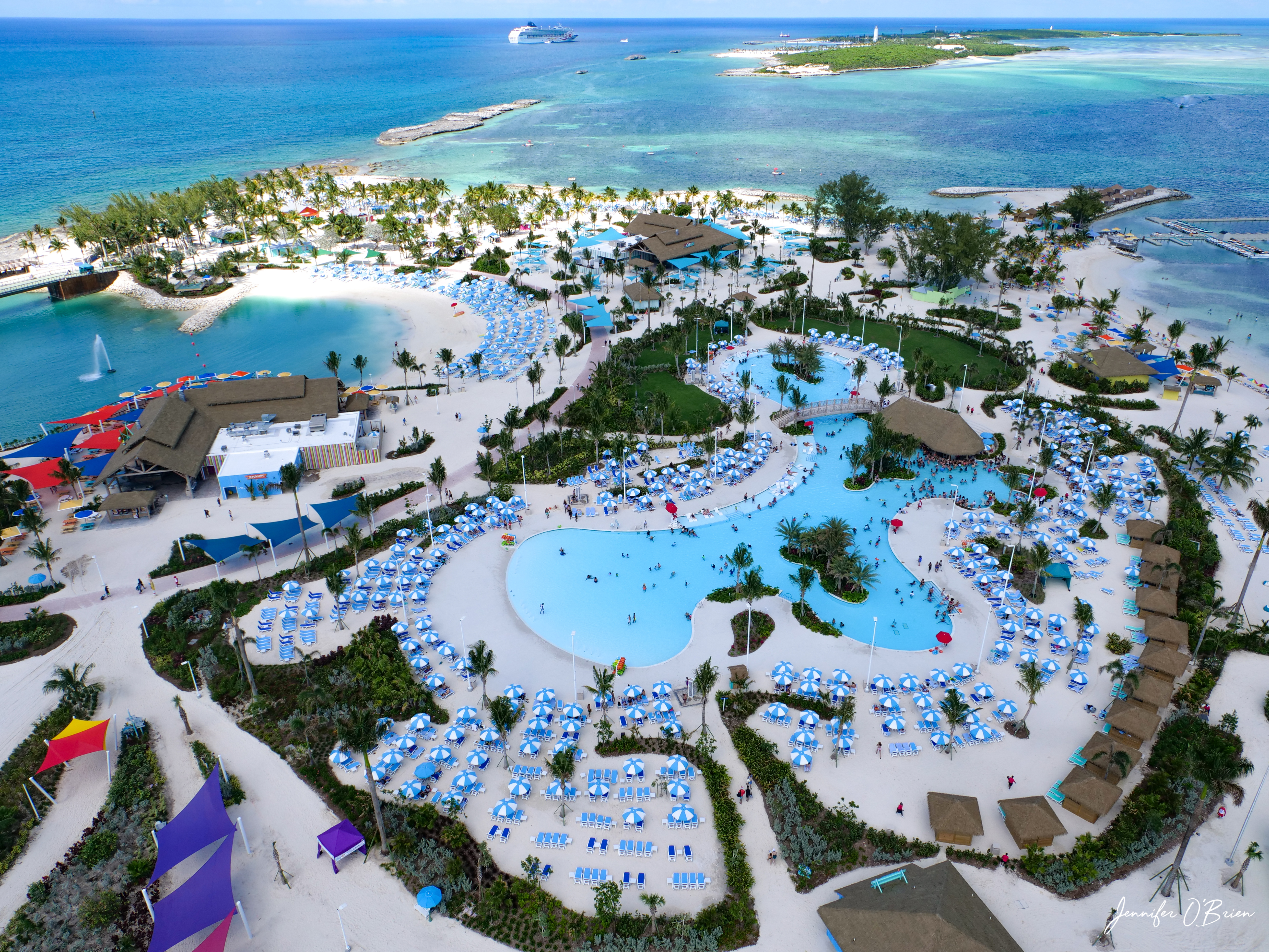 Royal Caribbean cococay bahamas 3. Oasis Lagoon is the largest freshwater pool