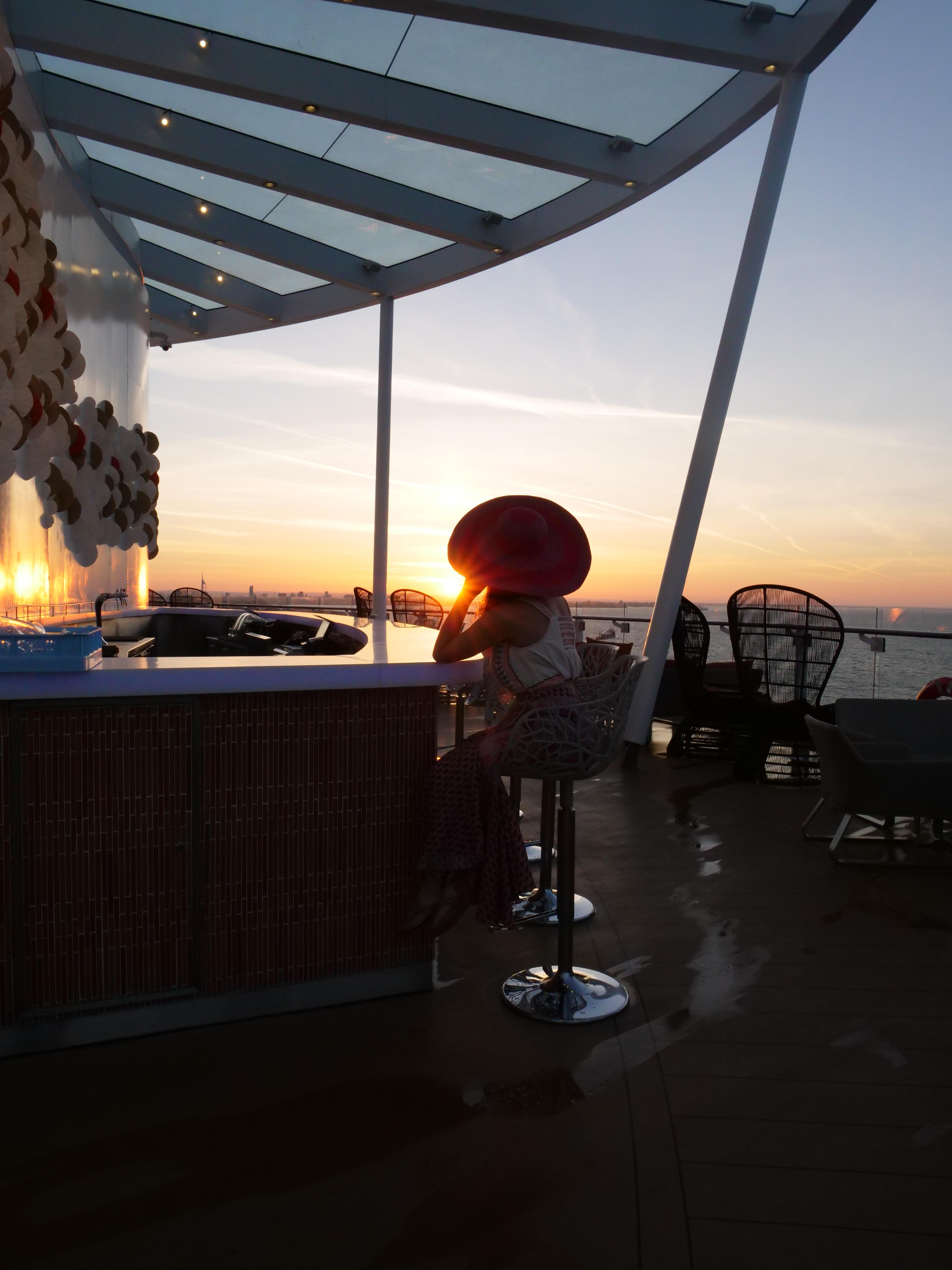 Sunset bar Celebrity Edge Cruises