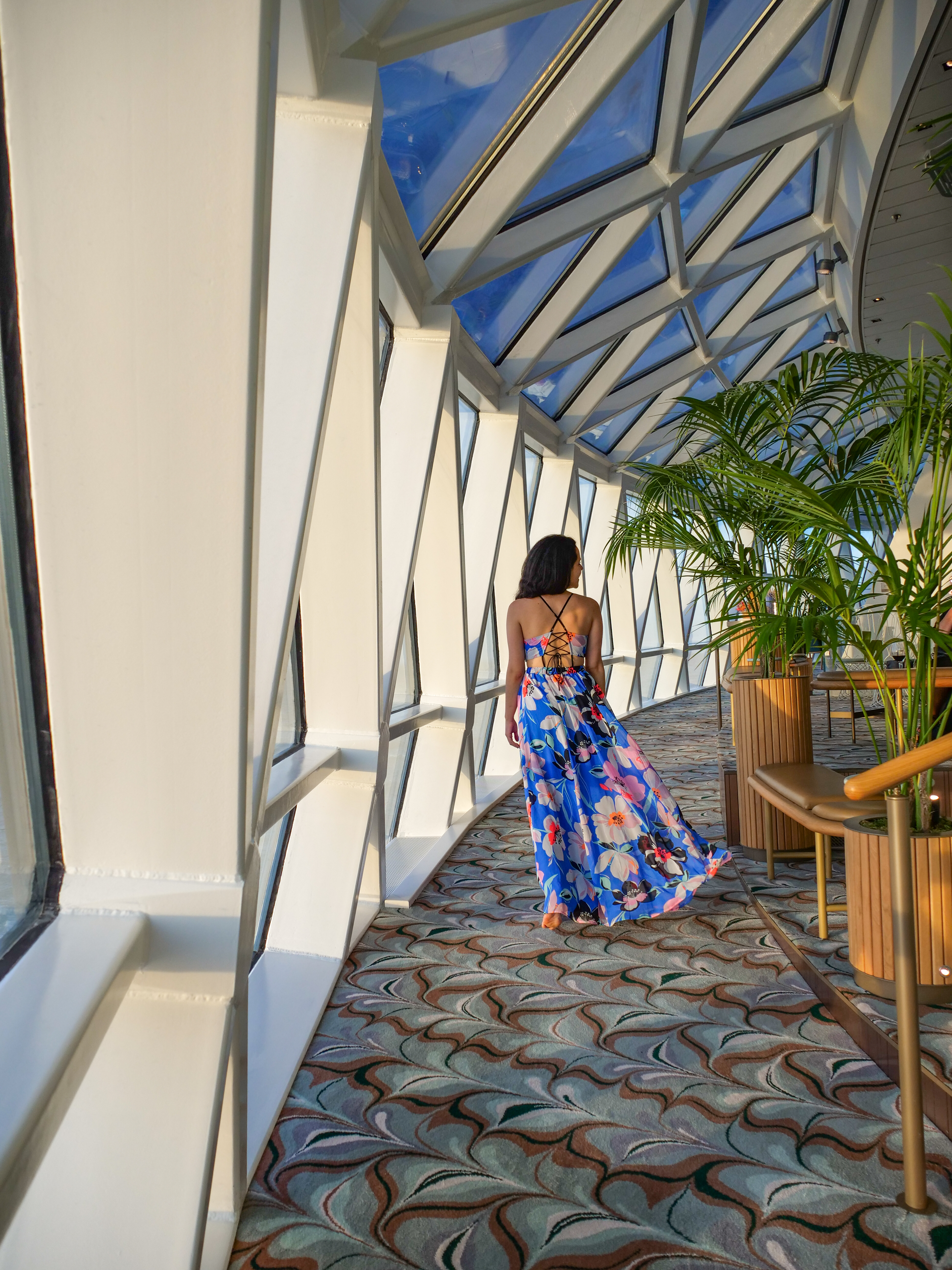 Eden Arch walkway Instagram Guide to the Celebrity Edge Cruise ship