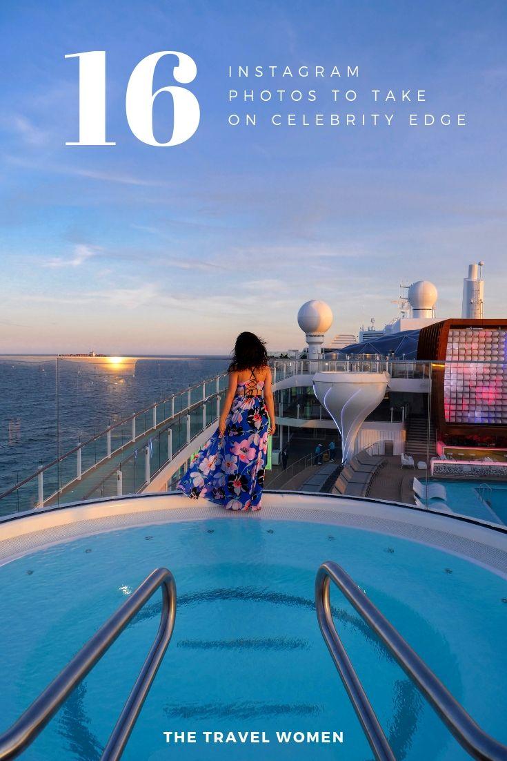 Instagram guide Celebrity Cruises Edge hot tub