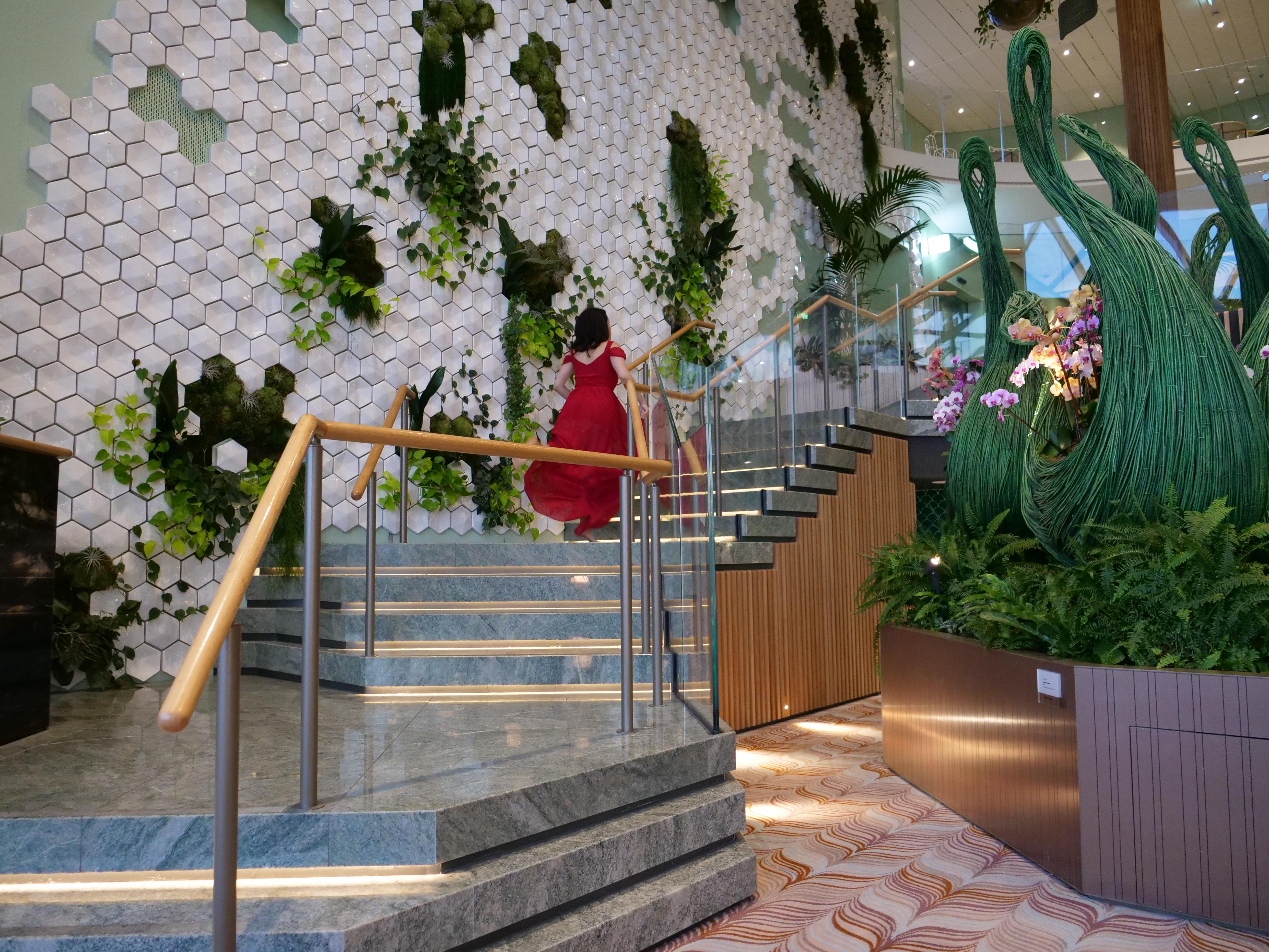 Celebrity Cruises Edge Eden restaurant stairs