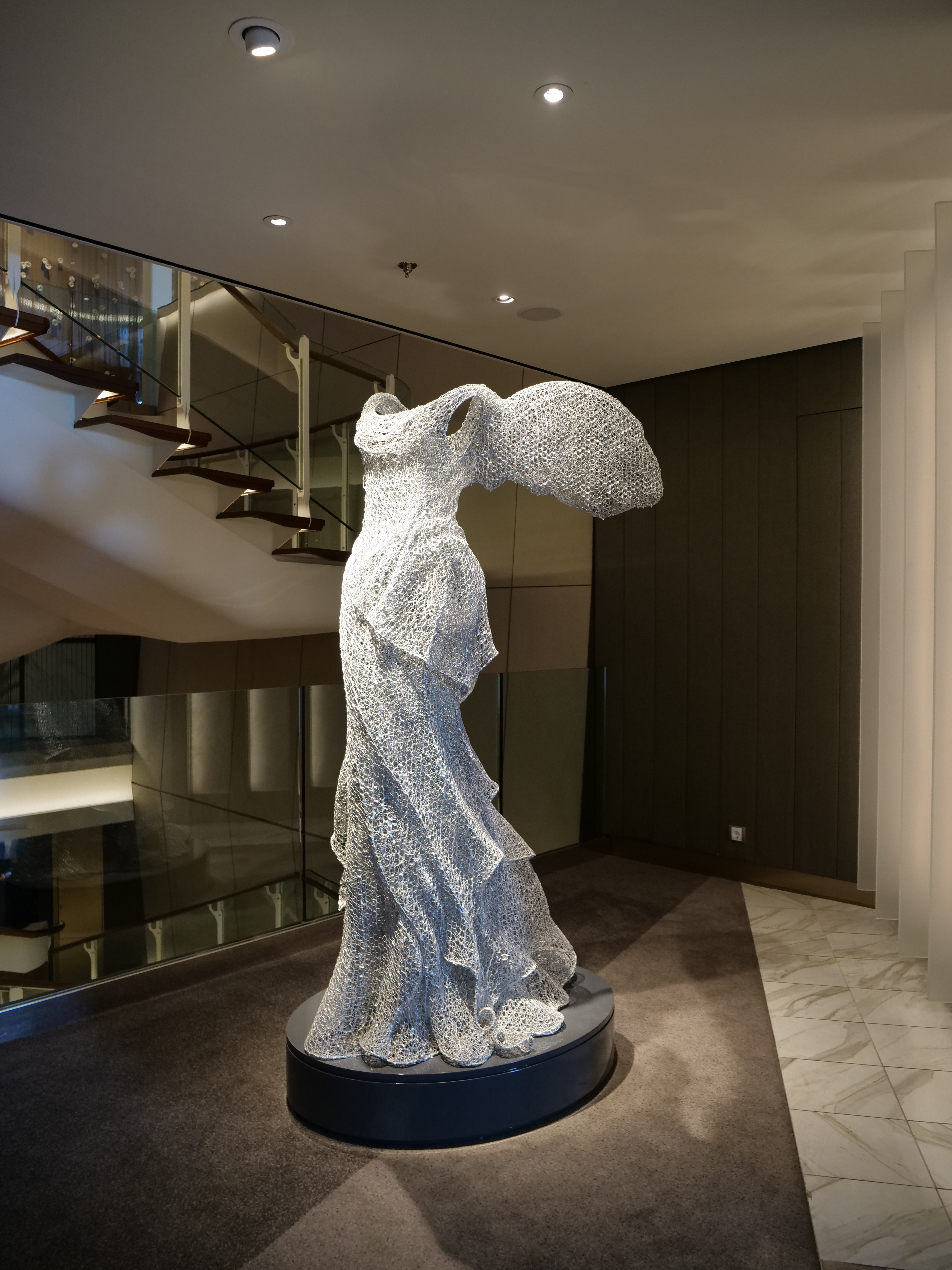 Celebrity Cruises Edge art collection Winged Nike statue