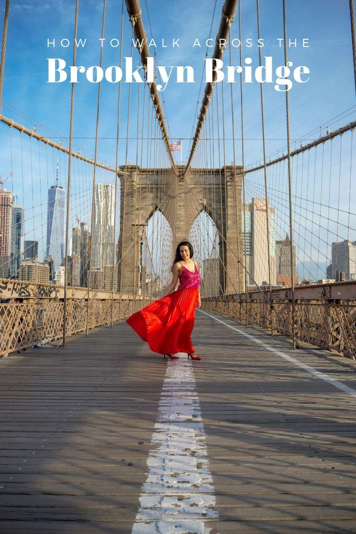 How to walk across the Brooklyn Bridge NYC