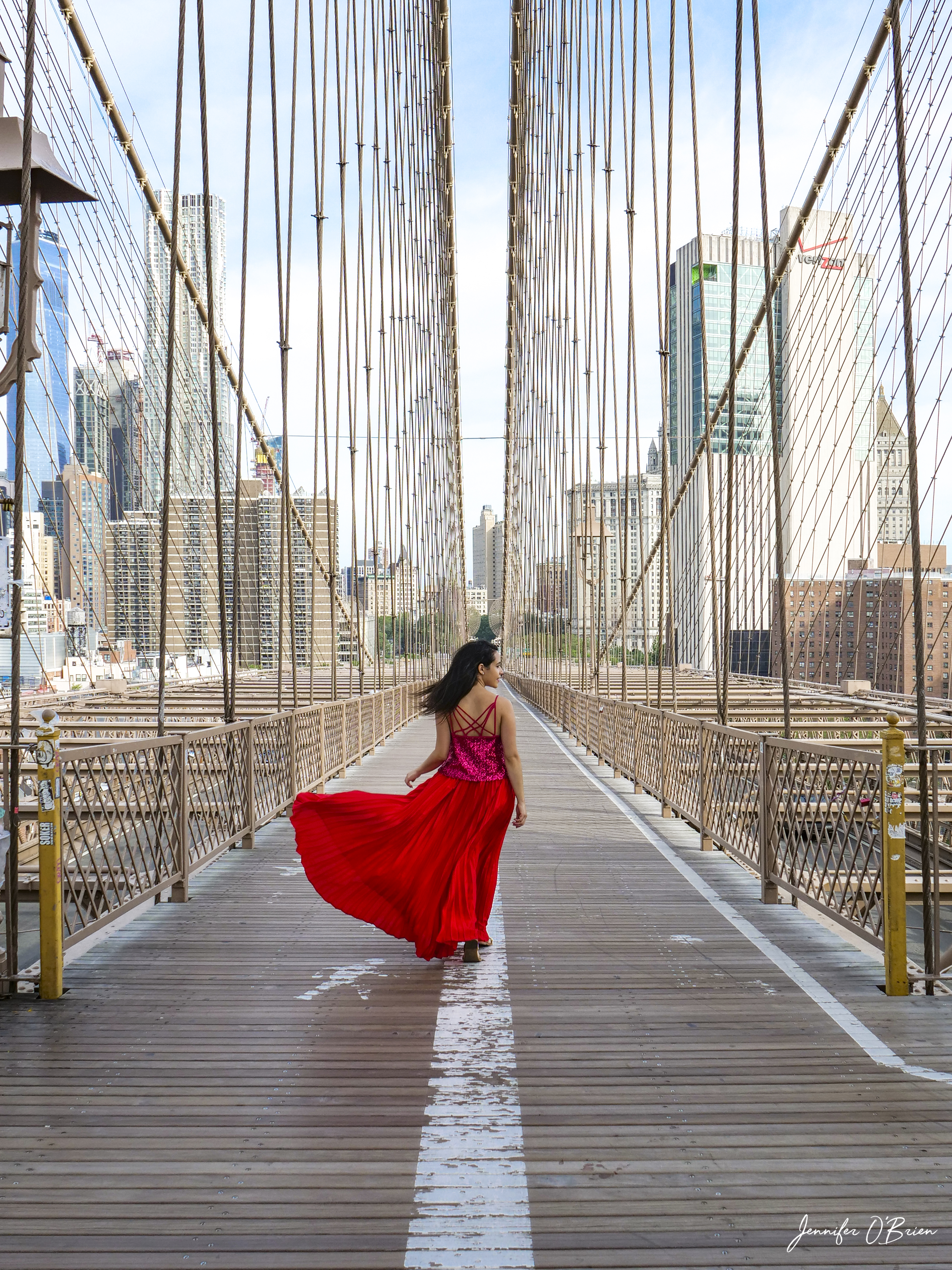 Top Instagram Photos of the Brooklyn Bridge The Travel Women Freedom Tower One World Trade Center Manhattan side