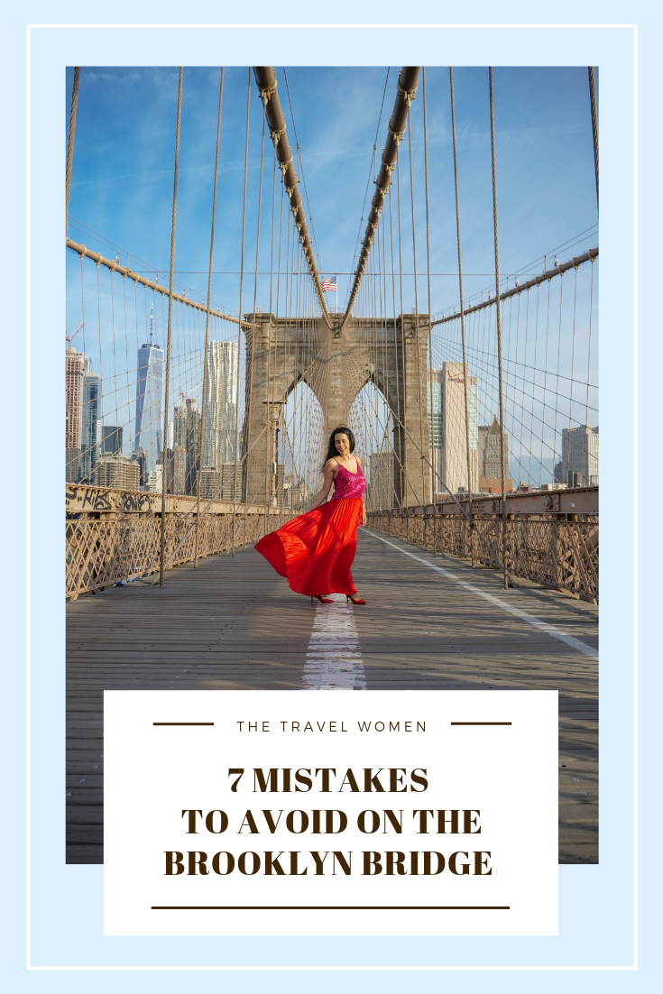 7 Mistakes to avoid walking across the Brooklyn Bridge NYC