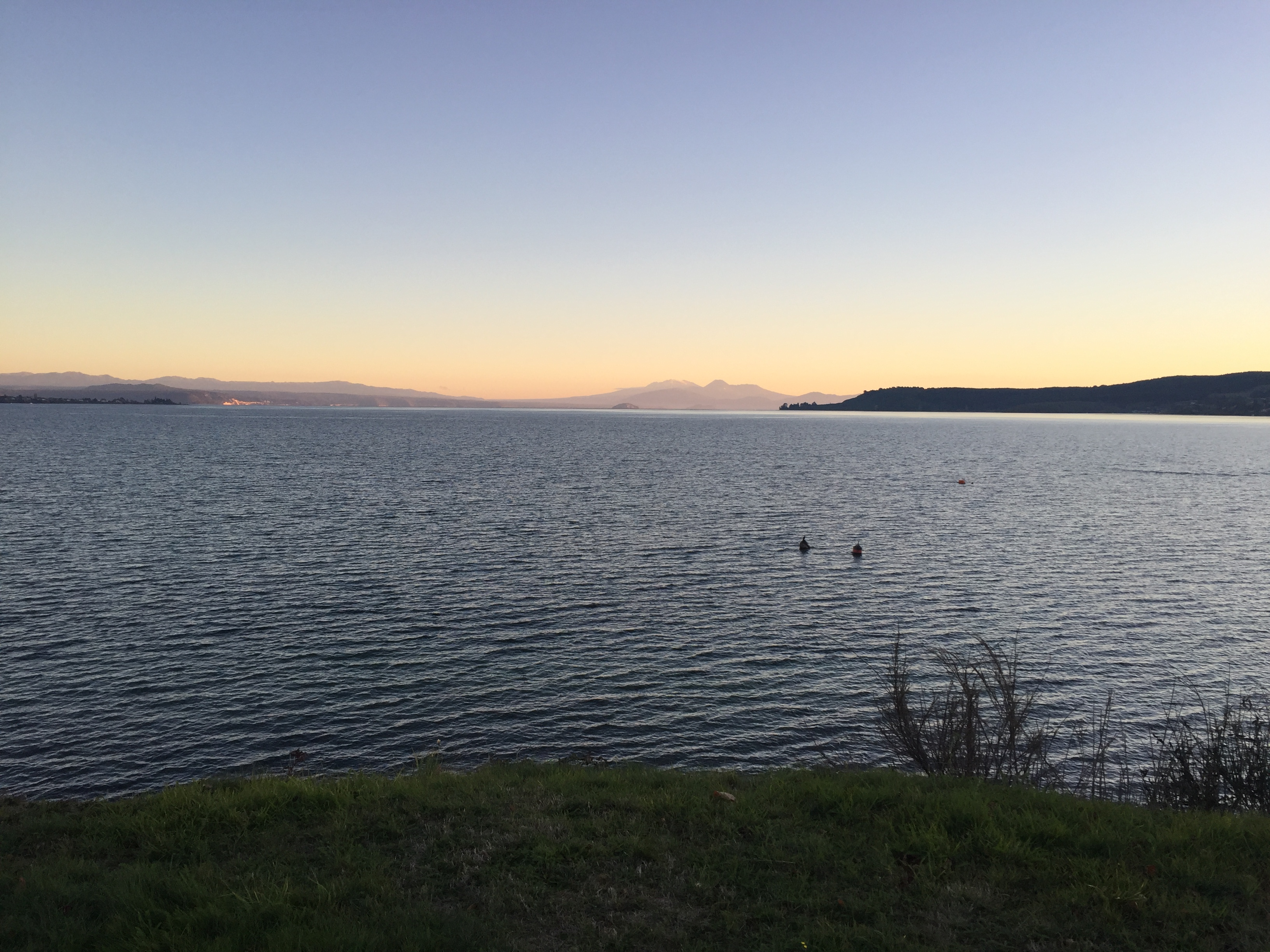 Lake Taupo New Zealand sunset travel 2019