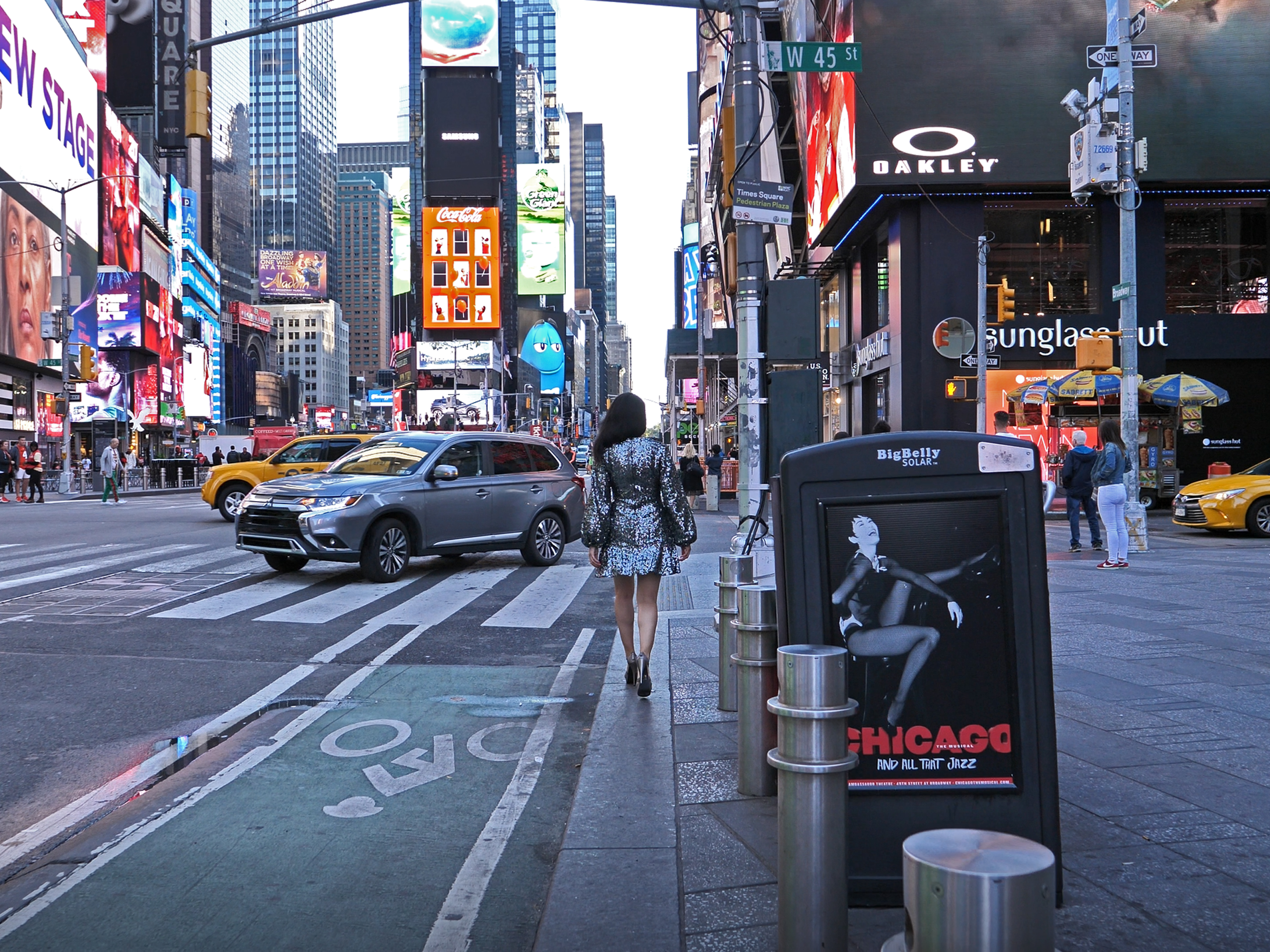 NYC Travel Guide: Budget Broadway Tickets TodayTix Chicago poster in Times Square