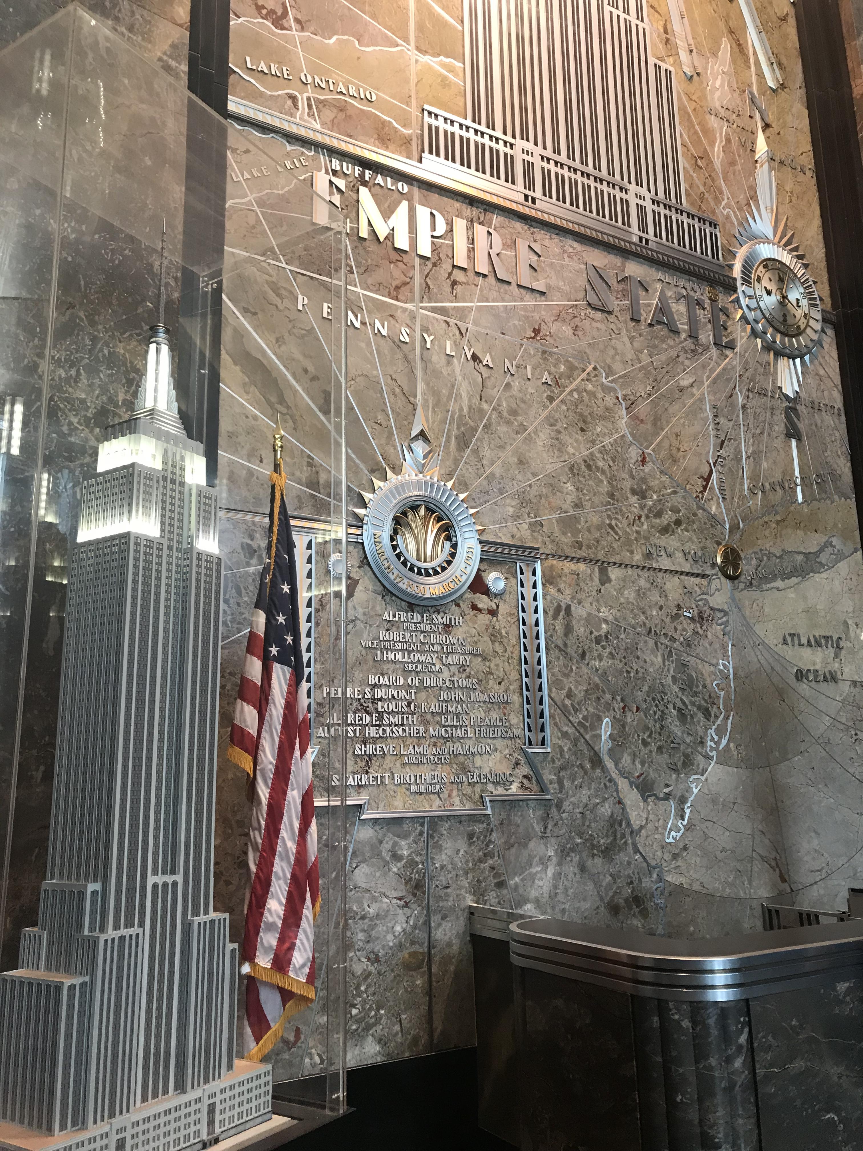 Fifth Avenue Entrance Empire State Building interior lobby Elf
