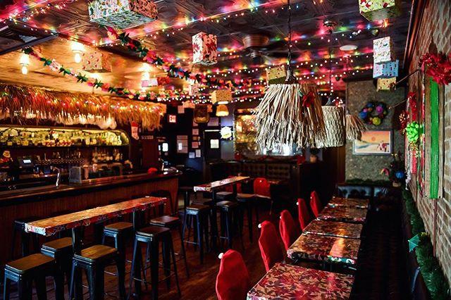 Sippin' Santa's Surf Shack at Boilermaker Holiday Christmas bar NYC