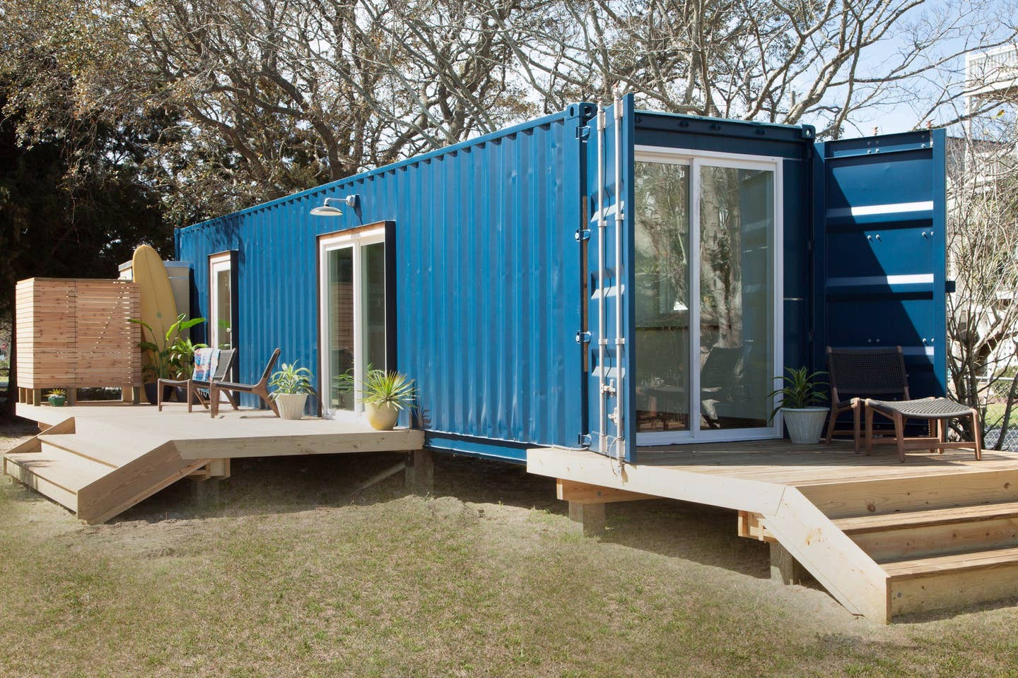 Most Unique USA Airbnbs Modern shipping container tiny home North Carolina Beach