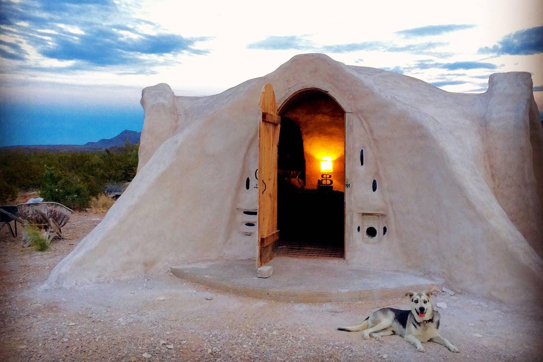 Most Unique USA Airbnbs adobe dome desert