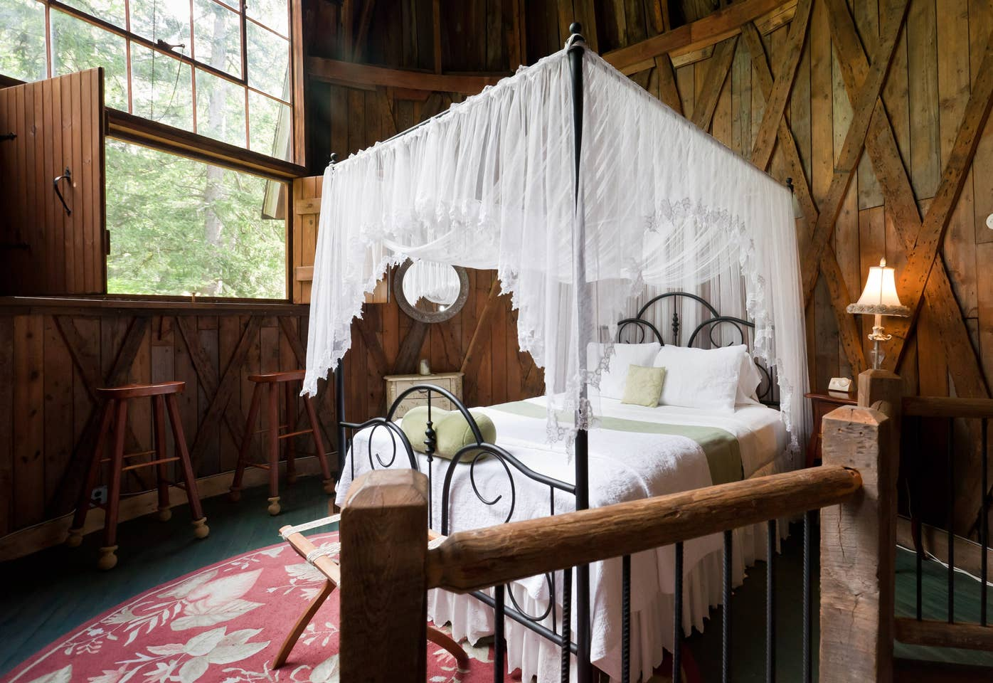 Most Unique USA Airbnbs round silo studio cottage Massachusetts bed lace canopy