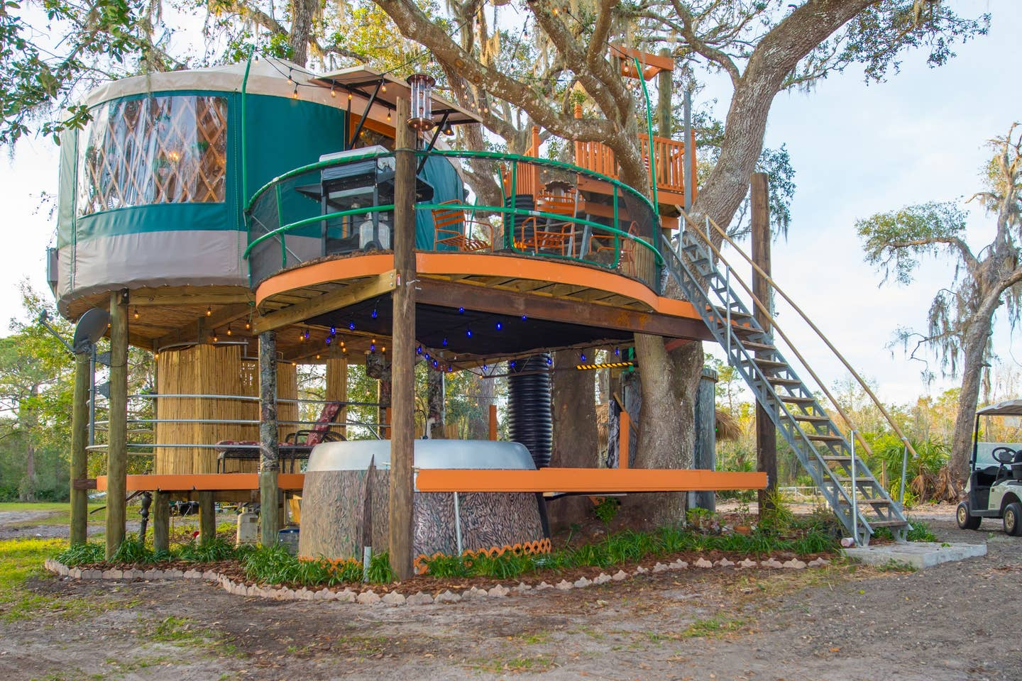 Most Unique USA Airbnbs Yurt Treehouse Florida