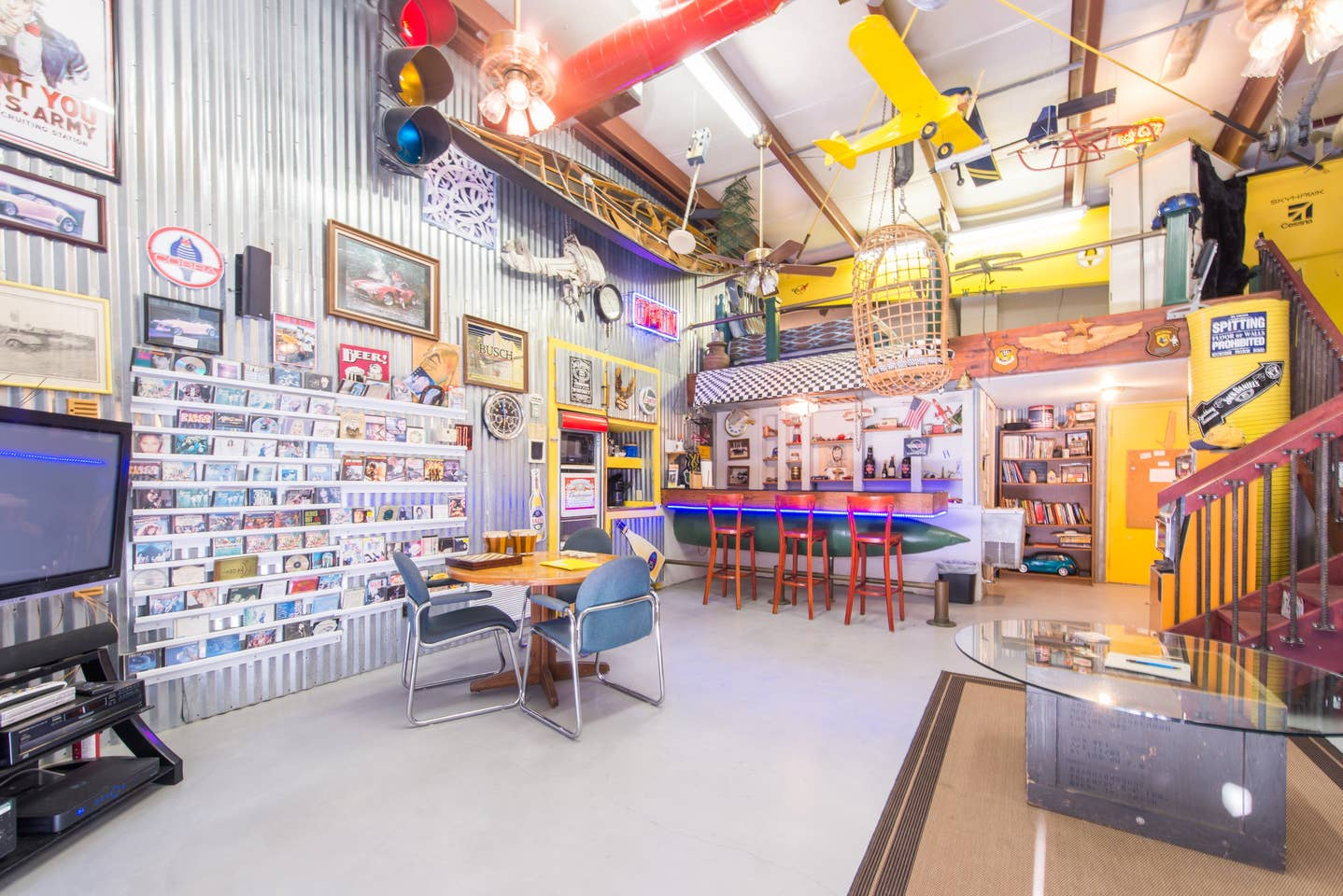 Most Unique USA Airbnbs man cave airplane hanger Florida