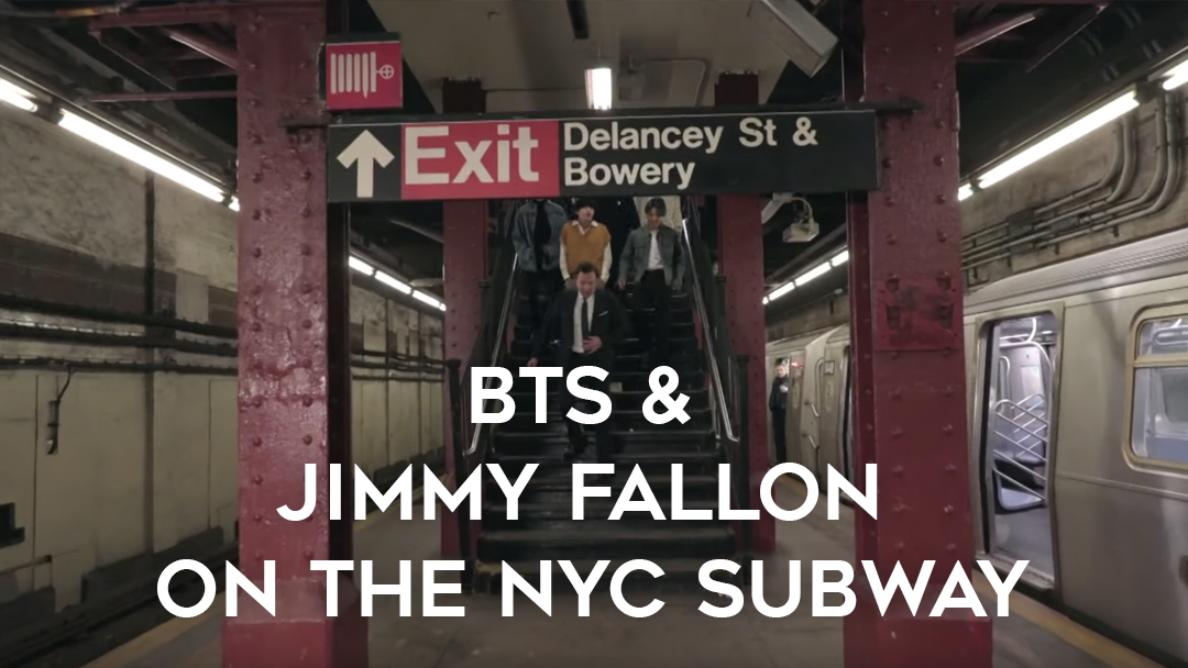 BTS Jimmy Fallon subway