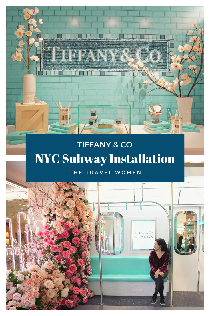 NYC Tiffany and Co Valentine's Day Subway Flower Installation Pinterest