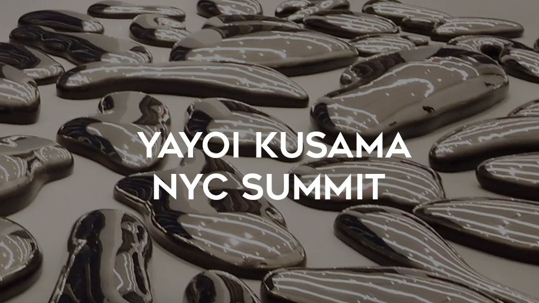 Yayoi Kusama NYC Summit over her clouds sculptures